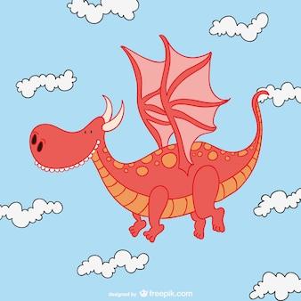 Carino drago cartone animato