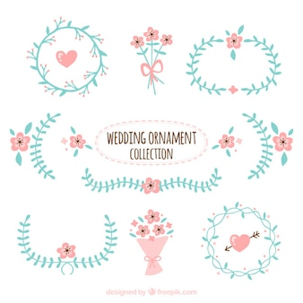 Carino matrimonio ornamento raccolta