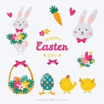Carino set di giorno di Pasqua