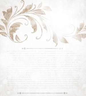 Carta del menu saluto celebrazione reale