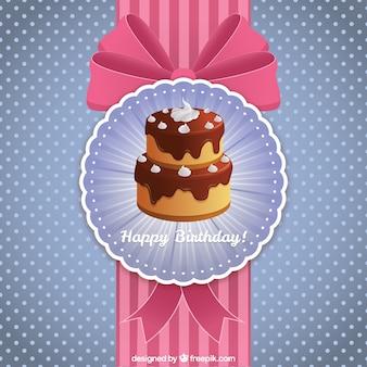 Carta di buon compleanno con una torta
