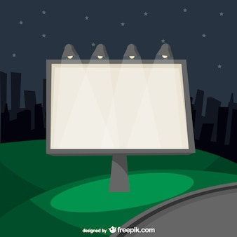 Cartellone urbano nella notte