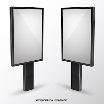 Cartelloni pubblicitari in bianco