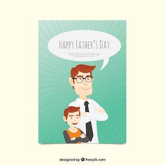 Cartolina d'auguri del giorno del padre