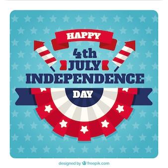 Cartolina d'auguri di giorno dell'indipendenza degli Stati Uniti