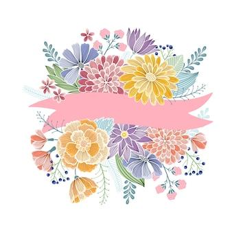 Cartolina d'auguri floreale