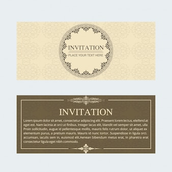 Cartolina d'invito Vintage