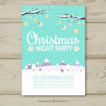 Cartolina di Natale con un paesaggio bello