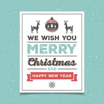 Cartolina di Natale dell'annata