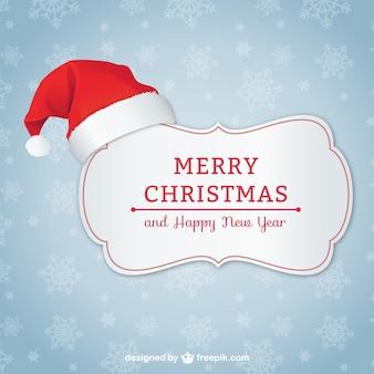 Cartolina di Natale elegante con il cappello della Santa