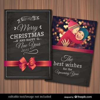 Cartolina di Natale modificabile con la fotografia telaio