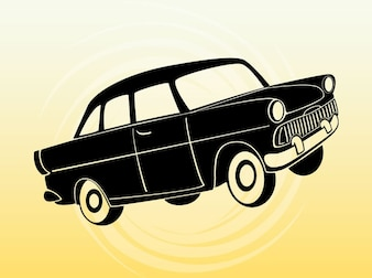 Cartone animato autovetture vettoriale viaggio