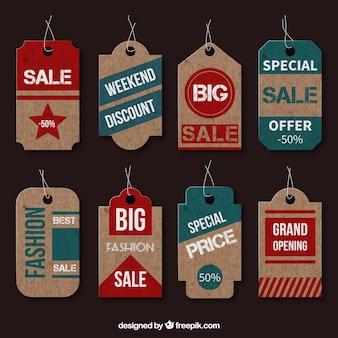 Cartone tag di vendita
