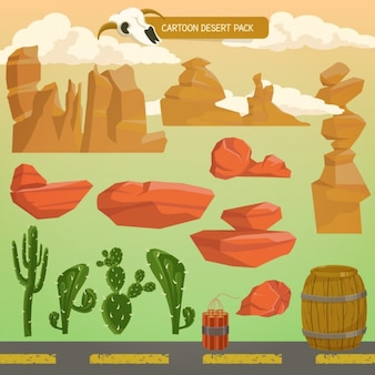 Cartoon deserto IconPack