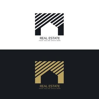 Casa creativo o immobiliare concetto di design logo
