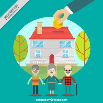 Casa di cura sfondo della carità