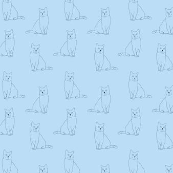 Cats-mano-illustrazione-vettore