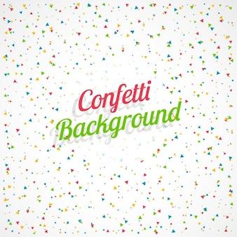 Celebrazione di sfondo con confetti colorati