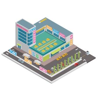 Centro commerciale isometrica
