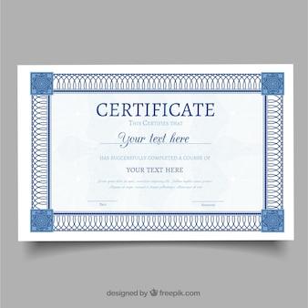Certificato elegante con cornice ornamentale