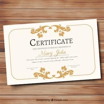 Certificato ornamentali elegante