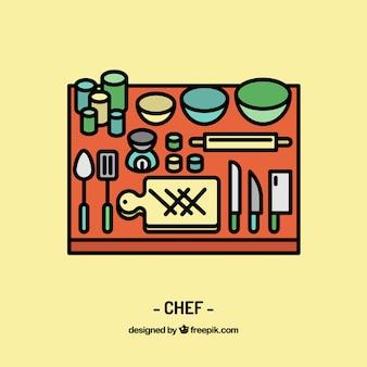 Chef di progettazione sul posto di lavoro
