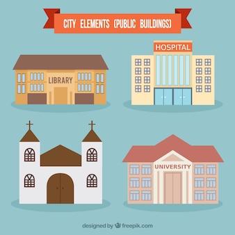 Città edifici pubblici