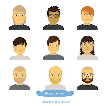 Collezione avatar maschili