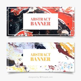 Collezione banner astratta