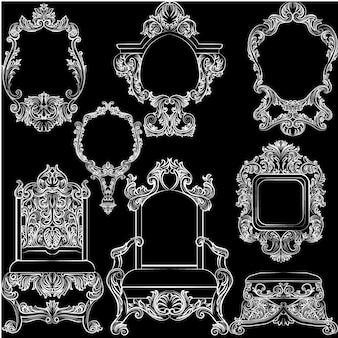 Collezione bianca di mobili d'epoca