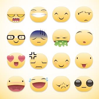 Collezione colorata di emojis