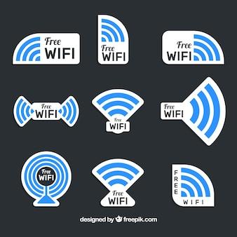 Collezione di adesivi Wifi