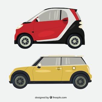 Collezione di automobili vista laterale