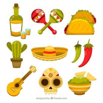 Collezione di cibo messicano