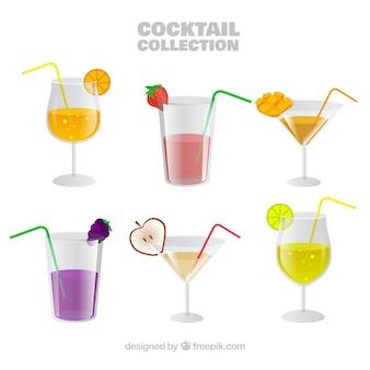 Collezione di cocktail di frutta