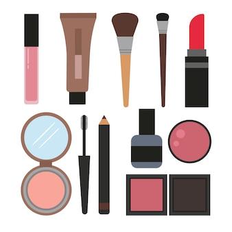 Collezione di elementi cosmetici