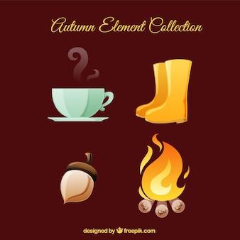 Collezione di elementi d'autunno