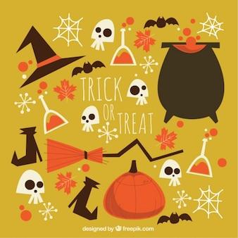 Collezione di elementi d'epoca halloween