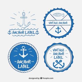 Collezione di etichette di ancoraggio carino