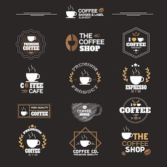 Collezione di etichette di caffè