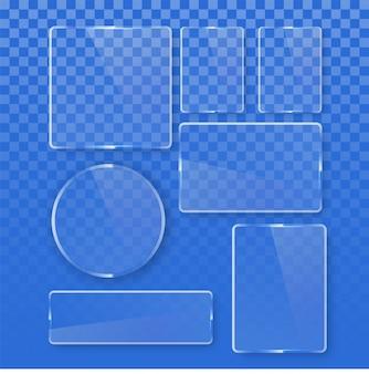 Collezione di forme geometriche di vetro