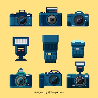 Collezione di fotocamere professionali