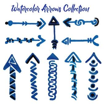 Collezione di frecce di acquerello