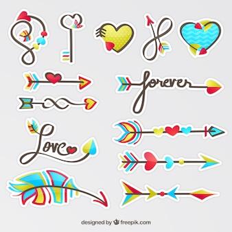 Collezione di freccia d'amore