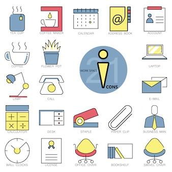 Collezione di icone dell'area di lavoro