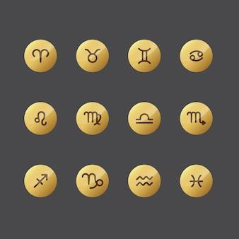 Collezione di icone dell'oroscopo