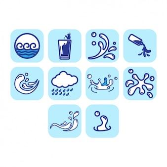 Collezione di icone di acqua