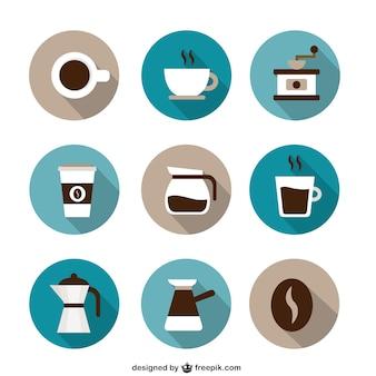 Collezione di icone di caffè