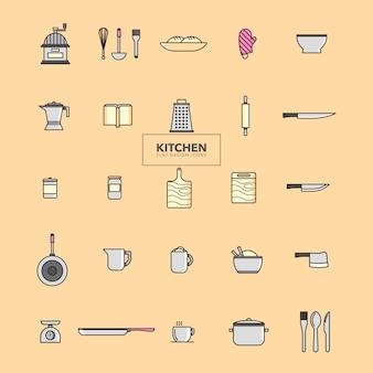 Collezione di icone di cucina