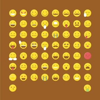 Collezione di icone di emoticon